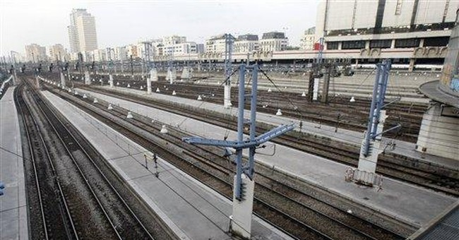 French cram into trains on day 2 of strike