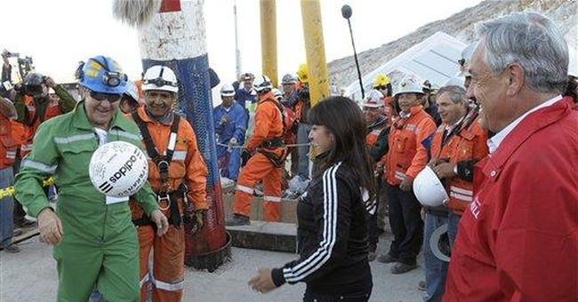 Former Chilean football player freed from mine