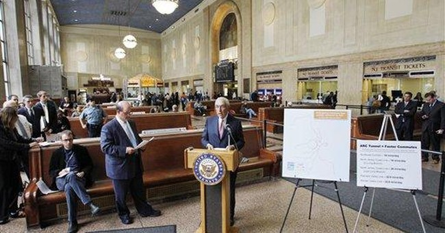 NJ gov: New funding source could save rail tunnel