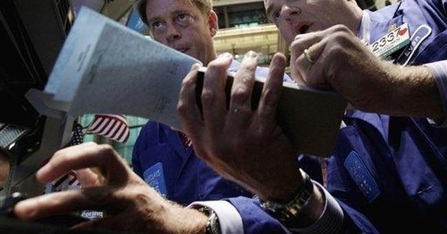 Dow falls, but Google helps Nasdaq