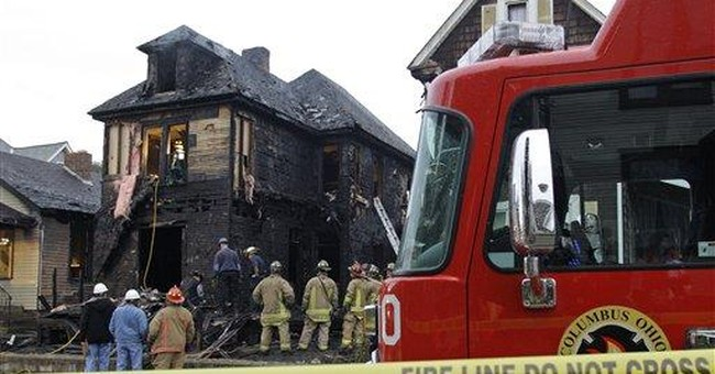 Arson ruled in Ohio fire killing 3, including baby