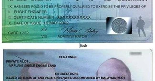 Pilot's licenses still short on security measures