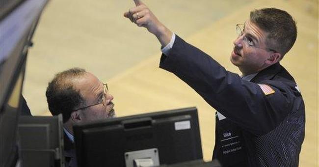 Market rebounds as dollar falls; Dow up 129