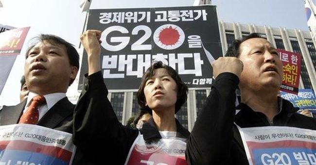Stocks steady as G-20 finance ministers meet