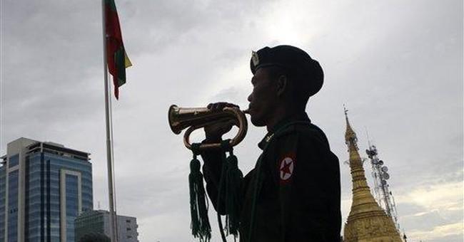 Myanmar unveils new national flag