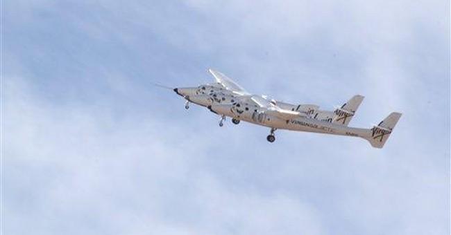 Branson dedicates spaceport runway in NM desert