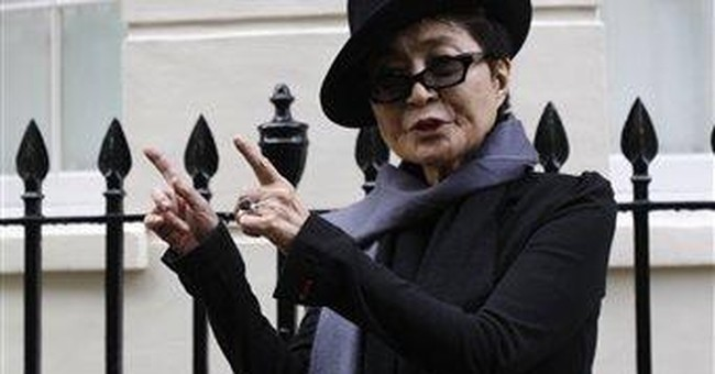 Yoko Ono unveils plaque on Lennon's London home