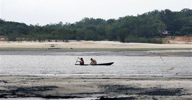 Drought has Amazon tributary at record low levels