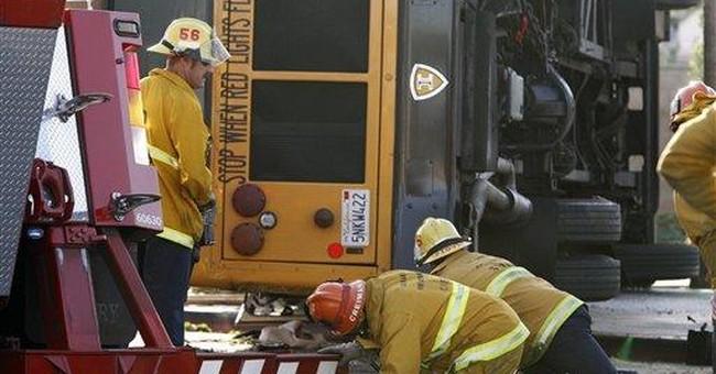 3 young men arrested in deadly LA school bus crash