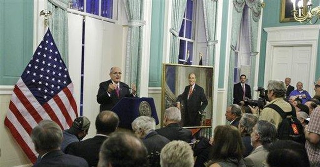 Rudy Giuliani's NY City Hall portrait is unveiled