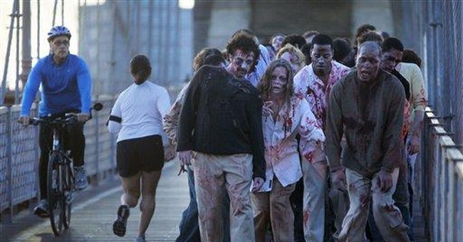 'Zombies' invade NYC during morning rush-hour