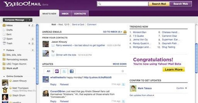 Yahoo tries to entice users with e-mail facelift