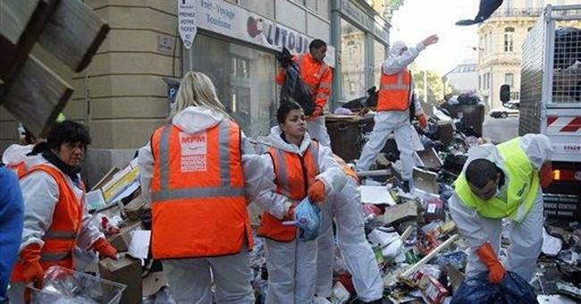 French strikes lose steam, garbage workers return