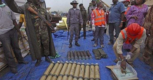 Israel: Nigeria weapons heading for Gaza Strip