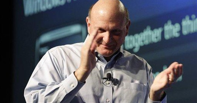 Microsoft earnings rise with business spending