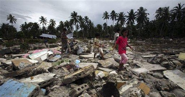 Baby found in trees days after Indonesia tsunami
