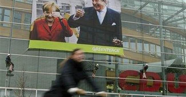 Anti-nuclear protests in Berlin target Merkel