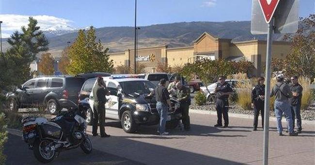 Police say gunman surrenders at Nevada Walmart