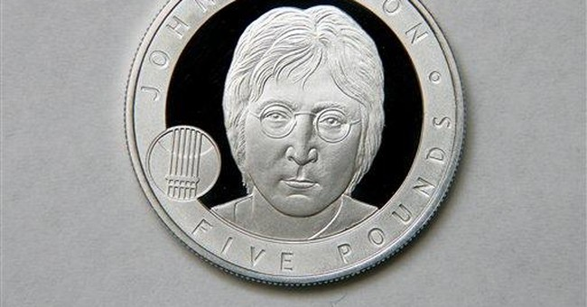 John Lennon coin issued by UK Royal Mint