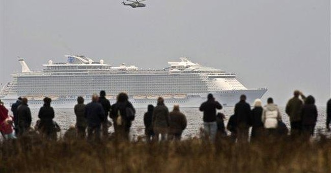 World's largest cruise ship clears bridge obstacle