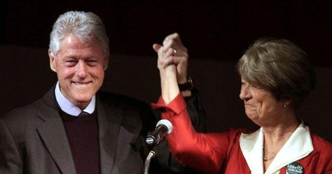 Clinton stumps in Maine for Mitchell