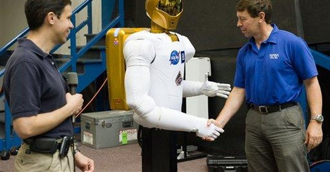 Robot's space debut 'giant leap for tinmankind'