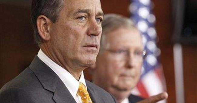 Faces of division: Obama, Boehner united on little
