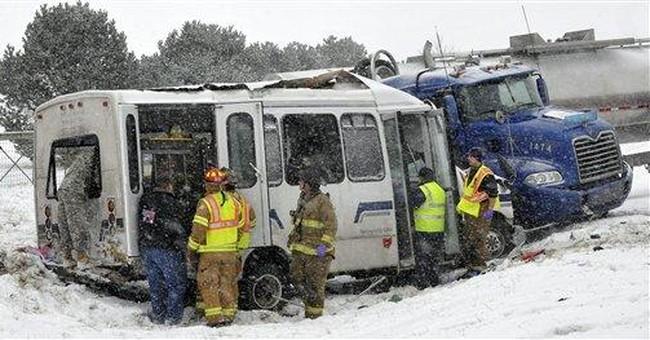 APNewsBreak: Trucker didn't brake in NY bus crash