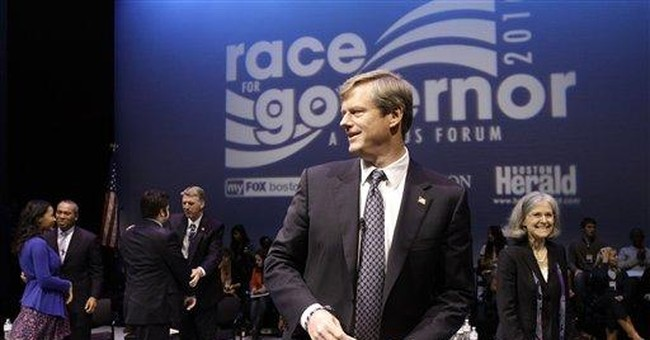 MA Gov Race: Republican Charlie Baker Dominates Cash Game