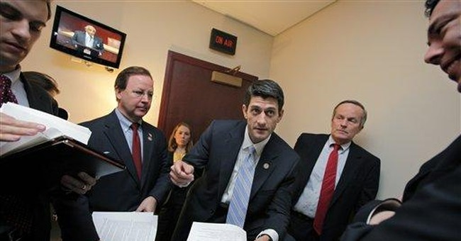 GOP presidential field sees budget wars from afar