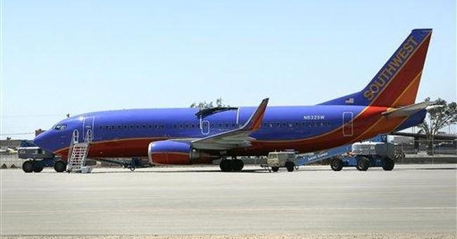 Damaged Southwest jet takes flight after repair