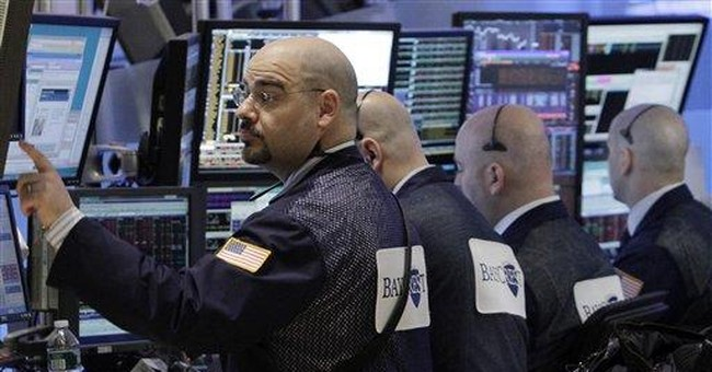 Stocks edge higher but leave banks behind