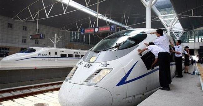 China slows down showcase bullet trains