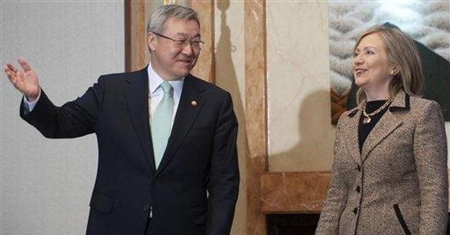 Clinton discusses free trade efforts in SKorea
