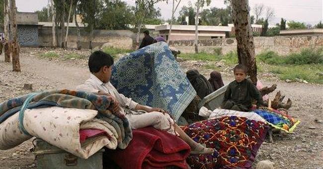 Pakistanis flee troubled areas near Afghan border