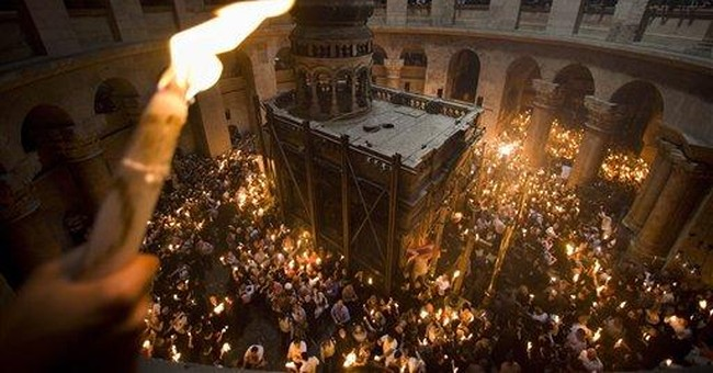 Traditions foil fire exit at Jerusalem church