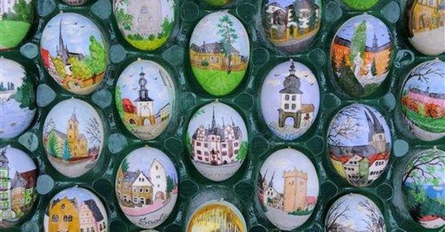 9,800 eggs festoon German retiree's Easter tree