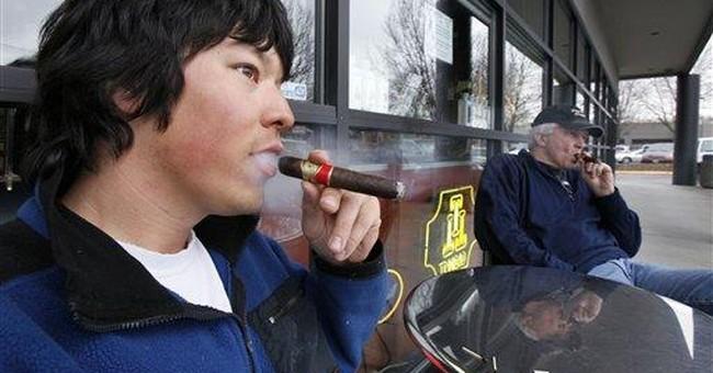 Cigar smokers seeking right to smoke in public