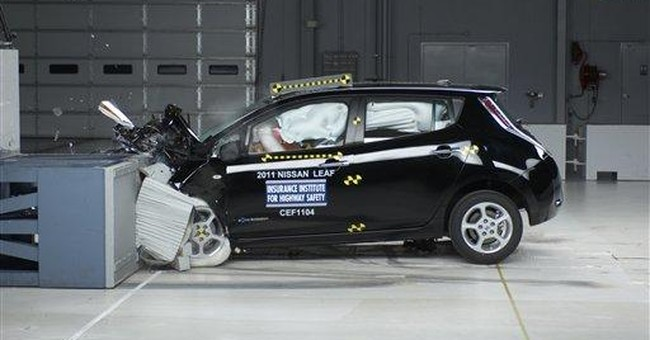 Nissan Leaf, Chevy Volt get top safety ratings