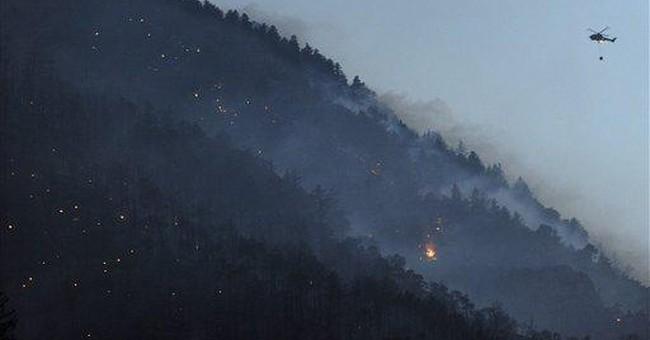 Major forest fire breaks out in Switzerland