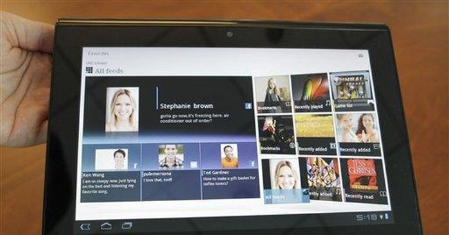 Sony shows tablets to compete with Apple offerings