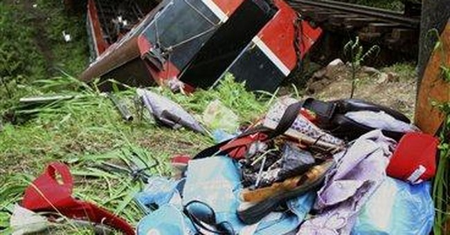 Taiwan train overturns, killing  Chinese