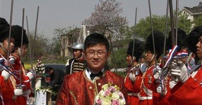Chinese couple hold 'royal wedding' with horses
