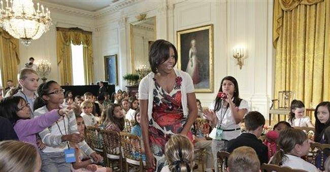 Kids visit first lady for take child to work day