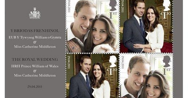 British wedding stamps offered for royal watchers