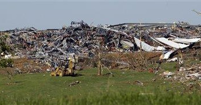 Tornadoes suddenly stop life in small town South