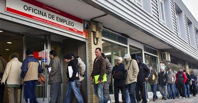 Spain jobless rate hits new eurozone record