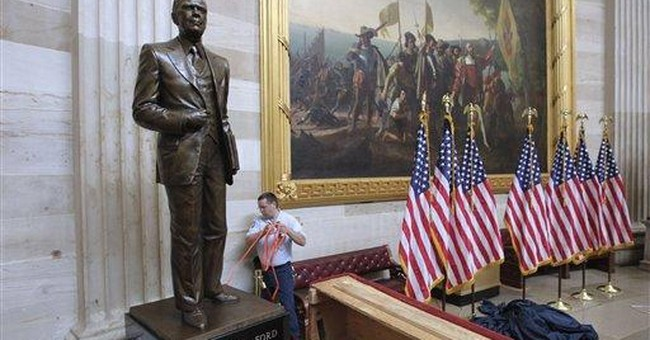 Bronze statue of Gerald Ford dedicated in Capitol