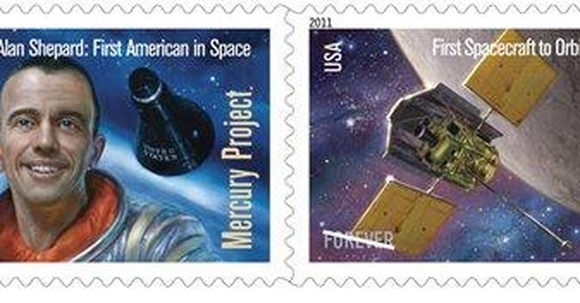 New stamps honor Alan Shepard, space mission