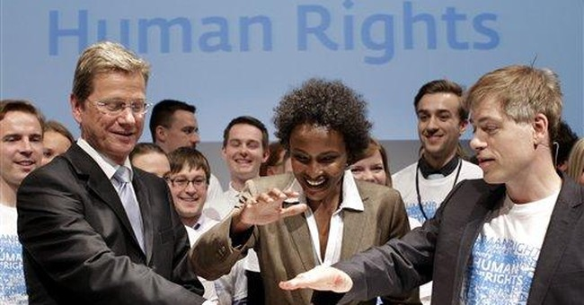 Germany launches quest for human rights logo